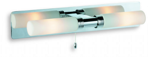 Firstlight 5754CH Chrome with Opal Glass Spa 2 Light Wall (Switched)